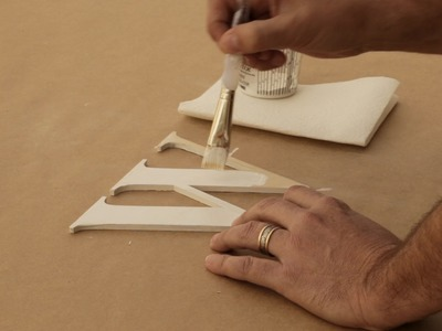 How to Paint Indoor Wooden Letters with a Brush