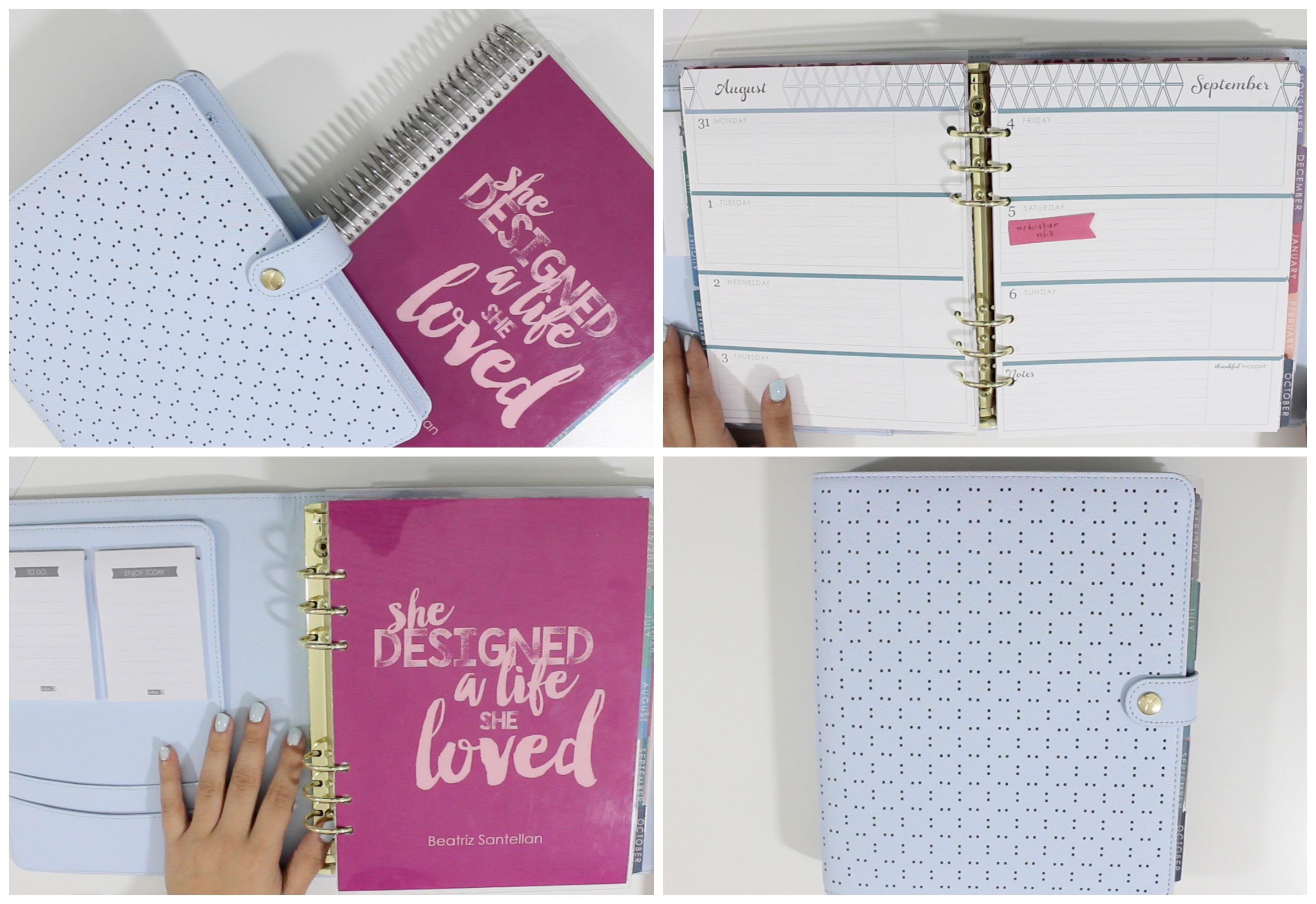 HOW TO: Put an Erin Condren Life Planner in a Large Kikki K