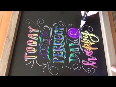 How to use Liquid Chalk Markers - Tutorial
