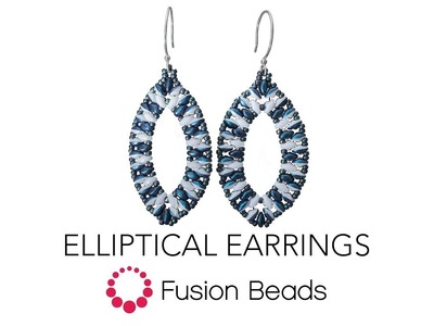 Learn how to create the Elliptical Earrings by Fusion Beads