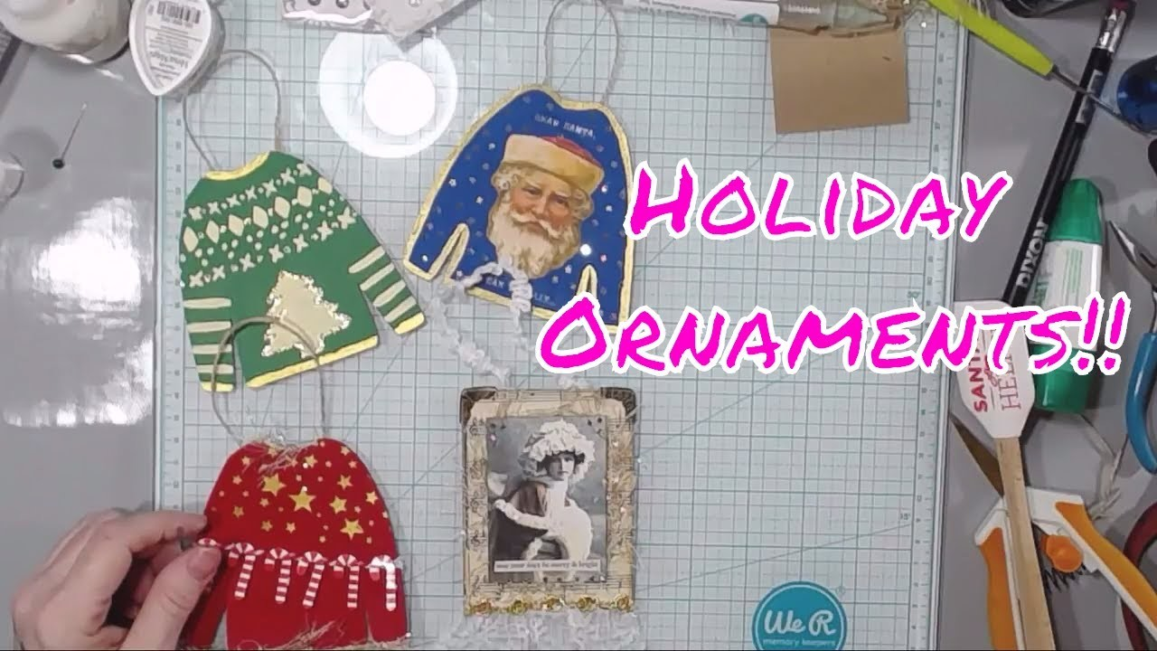 Live Stream Recording - Fun with Ornaments Challenge and a Glass of Wine?