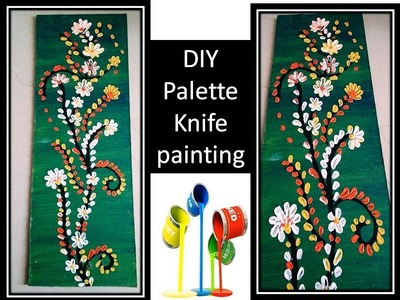 Palette knife painting | how to paint flowers | knife art acrylic painting | wall decor ideas