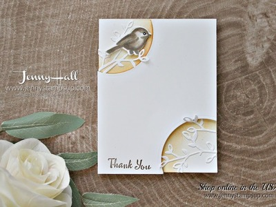 Petal Palette clean and simple card using Stampin Up products with Jenny Hall