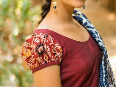 Puff Sleeve Cutting And Stitching Tailoring Classes in Tamil How To Stitch Puff Sleeve Blouse