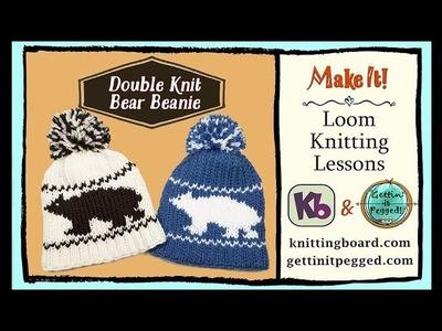 Rotating Double Knit Loom: Bear Beanie, Loom Along Tutorial PART ONE