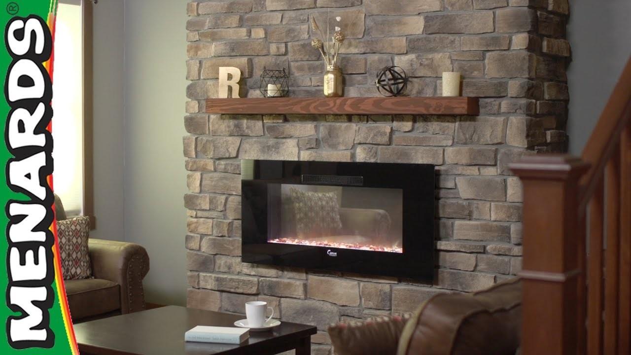 Stone Veneer Fireplace - Menards How-To Center
