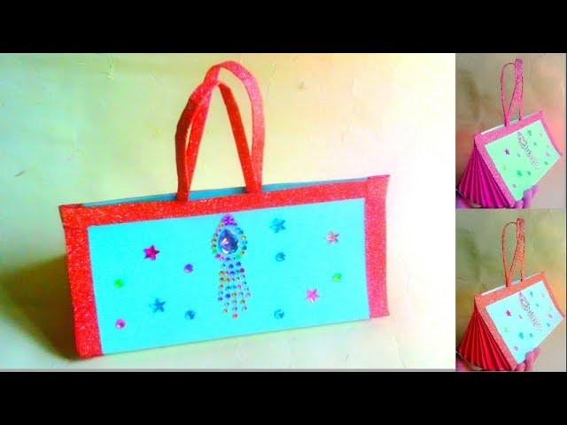 Styles Handbag How To Make Paper Hand Bag Beaded Easy Handicrafts Making
