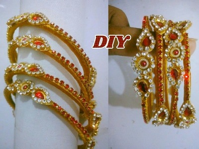 Thin bangle set - Making with stone chain   Jewellery tutorials
