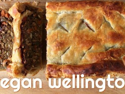 Vegan Wellington. Easy Lentil Roast for Christmas Dinner
