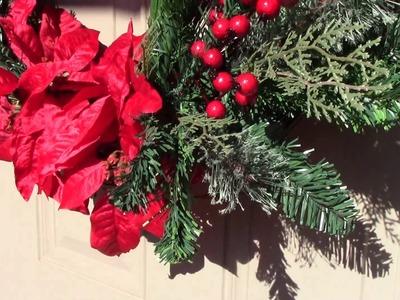 VLOGMAS! AFFORDABLE CHRISTMAS HOLIDAY WREATH! CHRISTMAS 2017