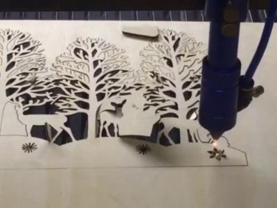 3D Laser Cut DIY Craft Wooden Christmas Tree decoration