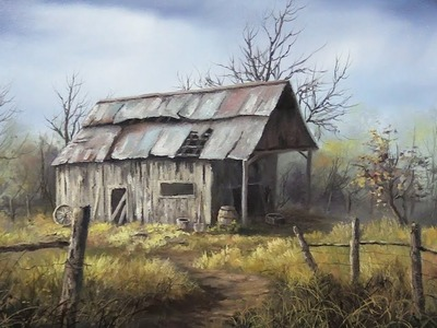 A Misty Barn | Paint with Kevin ®