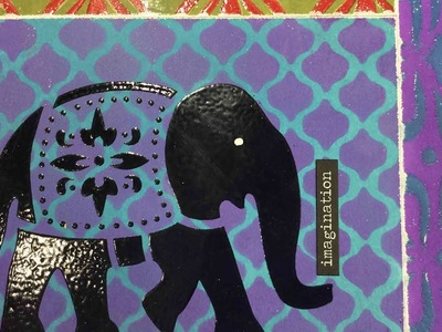 Art Journal Prompts Week 33 - Moroccan Inspired (Embossing with Distress Oxides)