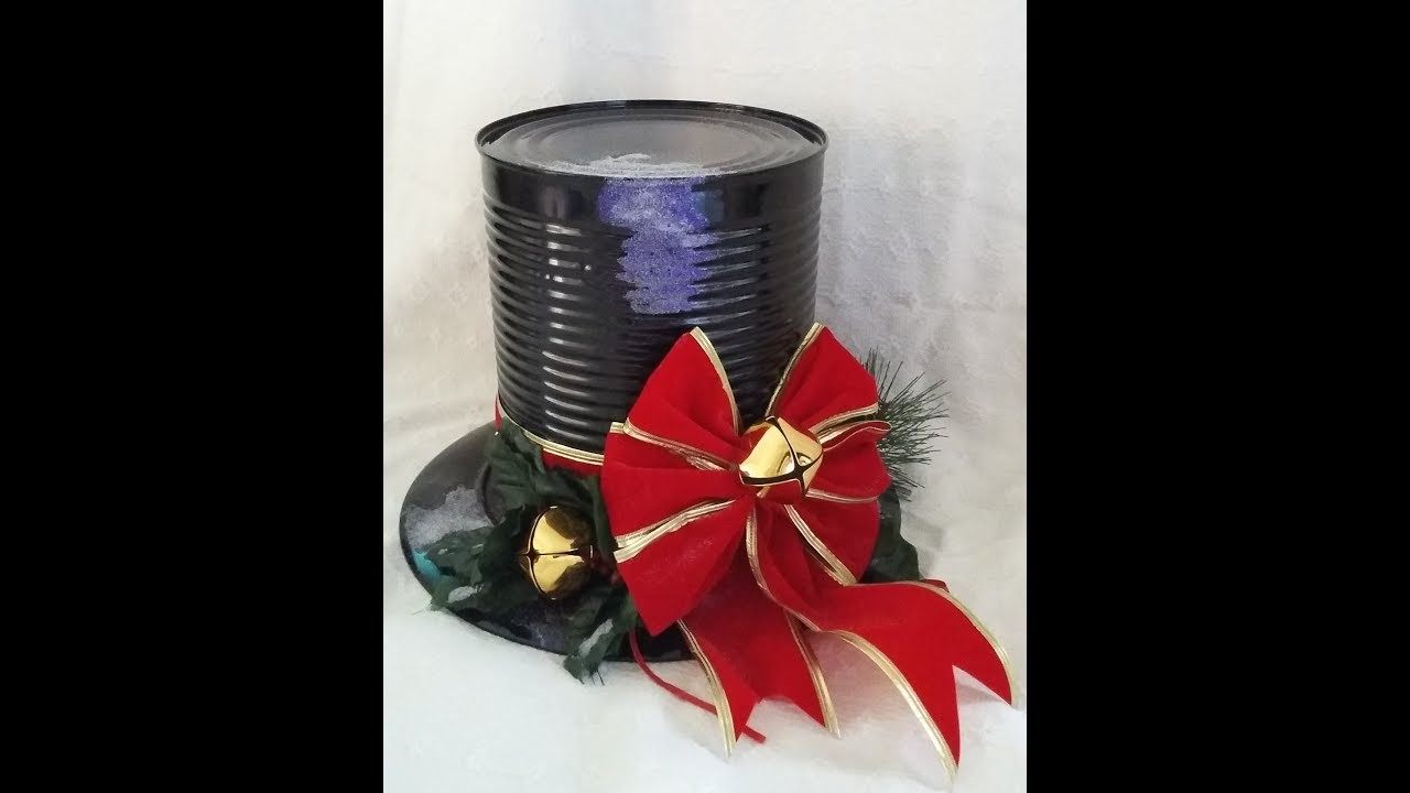 Best Out Of Waste Tin Can Top Hat Table Decorations