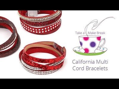 California Multi Cord Bracelets | Take a Make Break with Beads Direct
