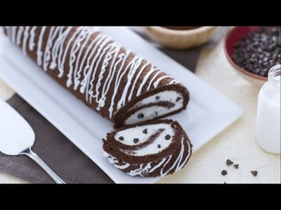 Chocolate Swiss roll with vanilla cream filling - recipe