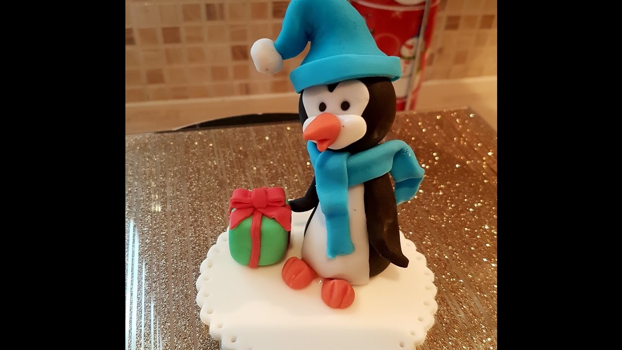 Christmas Cake Penguin Topper Tutorial for Beginners