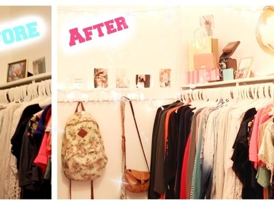 CLOSET TRANSFORMATION! ♡ ⎸ Affordable Make Over Ep. 1 ⎸Tips and Tricks ⎸Tumblr Inspired!