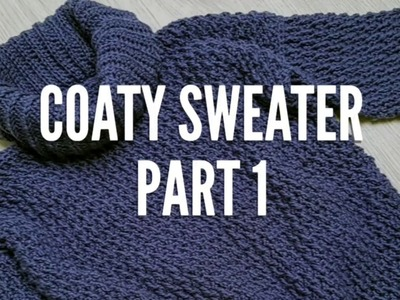 Coaty crocheted Sweater part 1