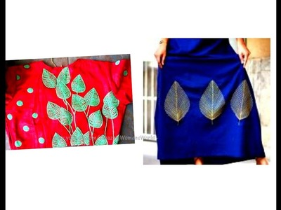 Crop Top and Skirt designing easy making at home using embroidery cone like Aari. Maggam work