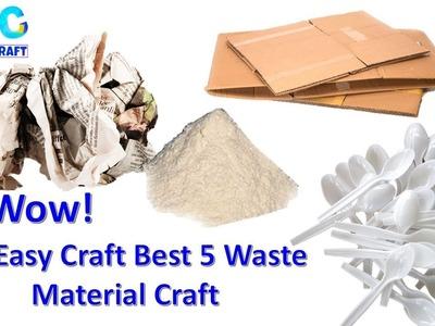 DIY 5 Amazing Waste Material Craft || Best Newspaper Craft