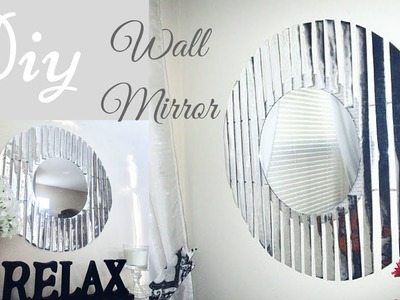 Diy Round Silver Wall Mirror Decor That is Easy, Quick and Inexpensive!