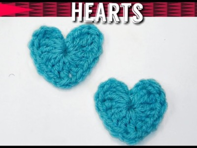 Easy Crochet Heart Applique - How to Crochet Hearts