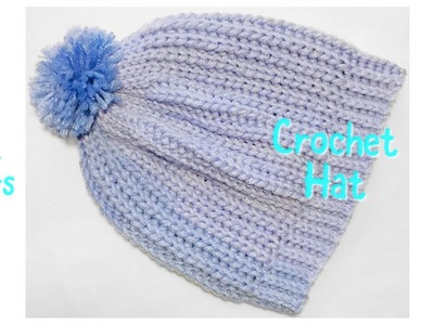 Fast and easy crochet hat or beanie for child from 1-2 years #109