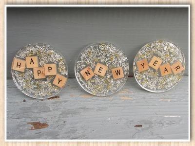 Happy New Year Coasters!  Make Something Monday!