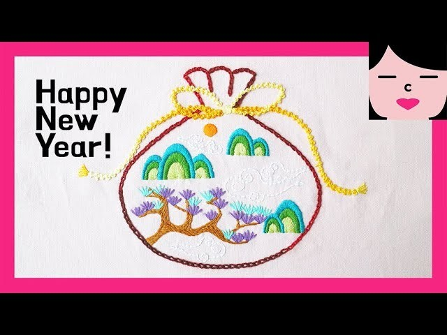 Happy new year fortune pouch hand embroidery 복주머니 프랑스자수 같이 해요.