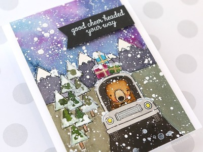 Holiday Card Series 2017 - Day 24 - Caught in a Blizzard