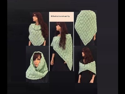 How to Crochet a Shawl Pattern #203│by ThePatternFamily
