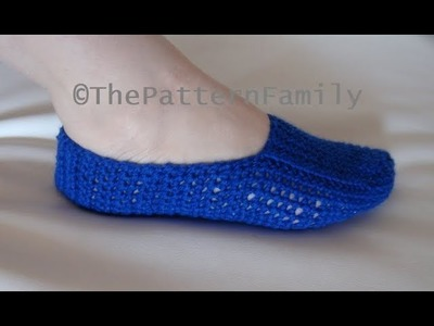 How to Crochet Slippers Pattern #199│by ThePatternFamily