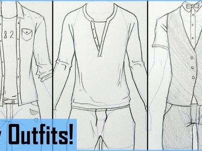 How to Draw Manga Boy Outfits!
