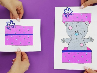 How to Draw Picture With a Secret | Slider Paper Game For Kids