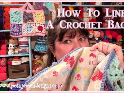 How To Line a Crochet Bag