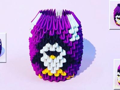 How to make 3d origami pen holder 30