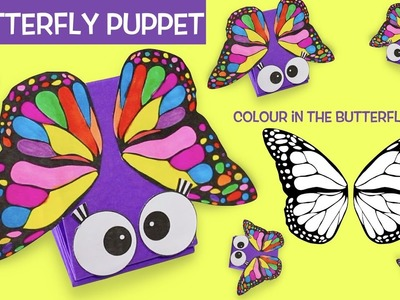 How to Make a Butterfly Paper Puppet | Color in the butterfly wings.