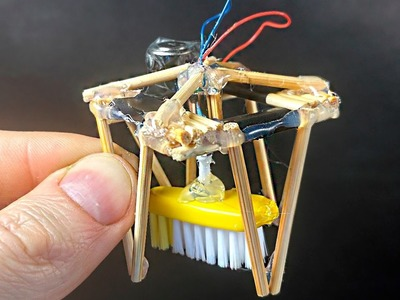 How to Make a mini Electric Robot Cleaner at home - Robot DIY