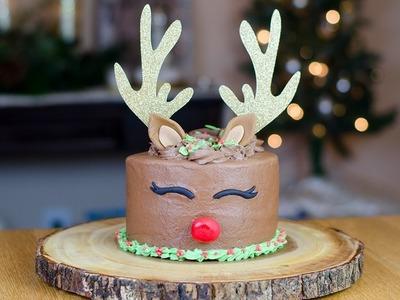 HOW TO MAKE A REINDEER CAKE | SIMPLY DOVIE