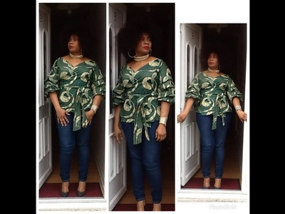 How To Make A Wrap Top With A Tiered Ruffle Sleeve