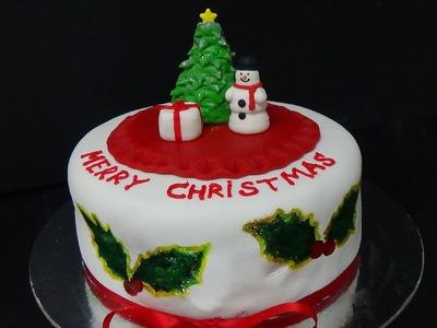 How to make cake merry christmas