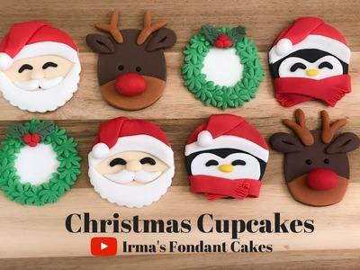 How to make Christmas Cupcakes | Irma's Fondant Cakes (3 mins)