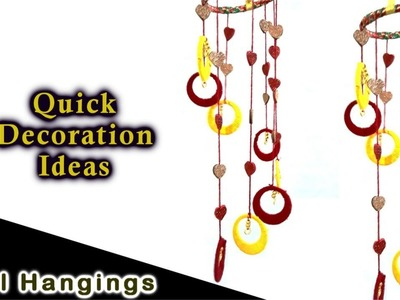 How to make Wall Hanging || Wind Chimes || Door Decor || Home Decor || EKS#21