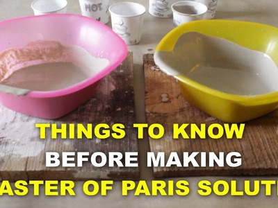 How to mix Plaster of Paris - Satyen Sharma
