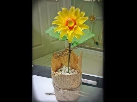 How to stockingflower ( sunflower )by ployandpoom (ผ้าใยบัว)