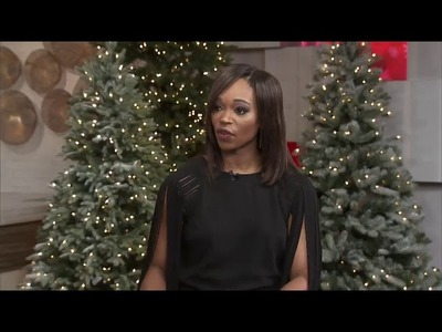 How to style a non-traditional glam black Christmas tree