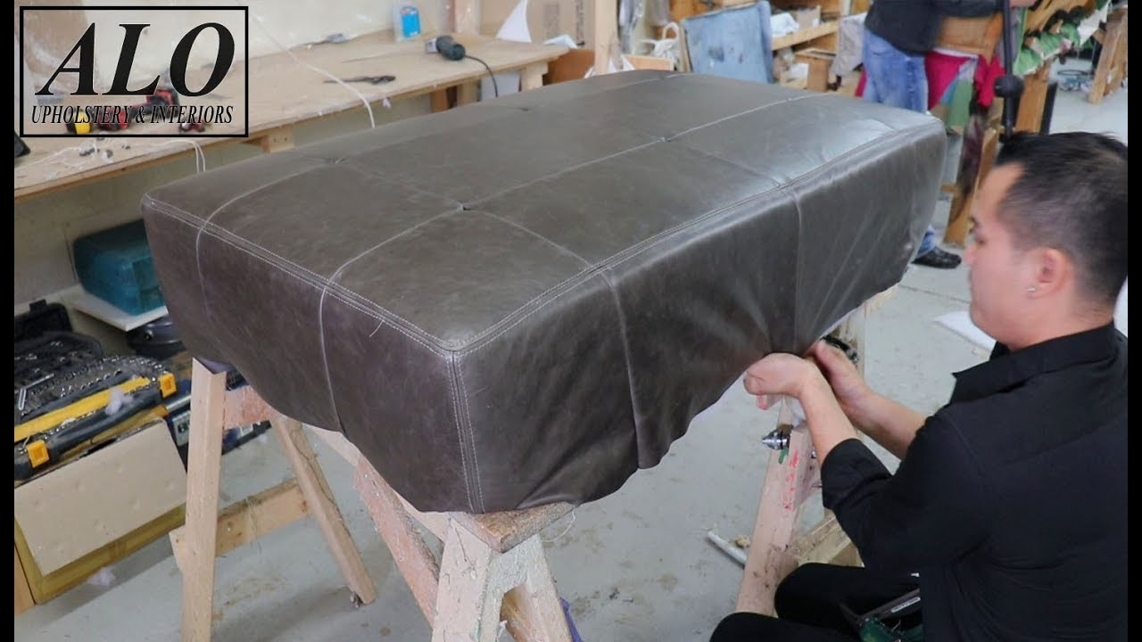 HOW TO UPHOLSTER A TUFTED OTTOMAN - ALO Upholstery