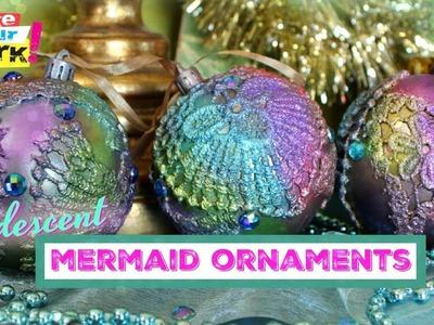 Iridescent Mermaid Ornaments