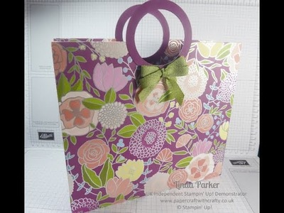 Linda's Large Tote Bag with Circular Handles - Sweet Soiree DSP by Stampin' Up!